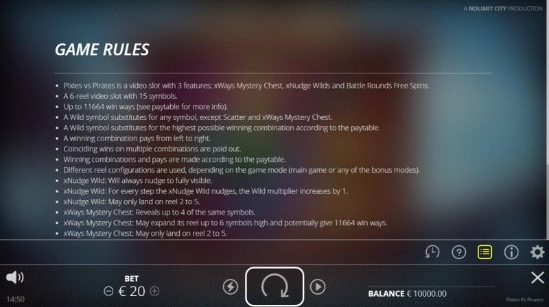 Pixies vs Pirates :: General Game Rules