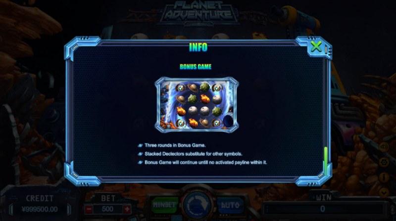 Planet Adventure :: Bonus Game Rules