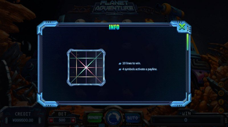 Planet Adventure :: 10 Lines to Win
