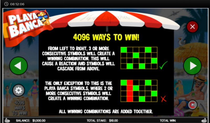 Playa Banca :: 4096 Ways to Win