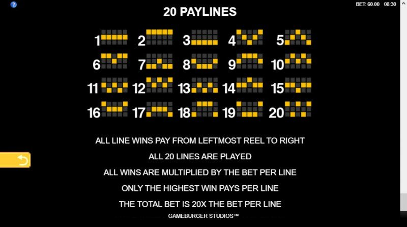 Playboy Fortunes :: Paylines 1-20