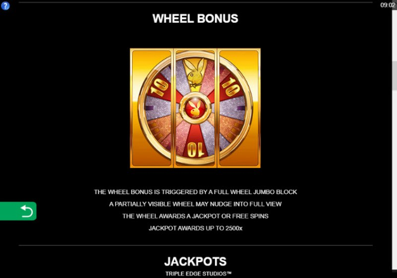 Playboy Gold Jackpots :: Wheel Bonus