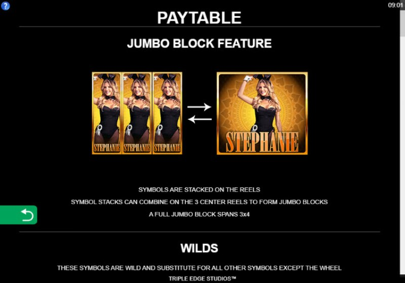 Playboy Gold Jackpots :: Jumbo Block Feature