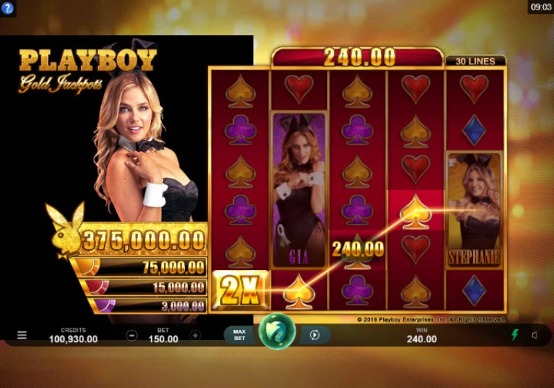 Playboy Gold Jackpots :: Four of a kind