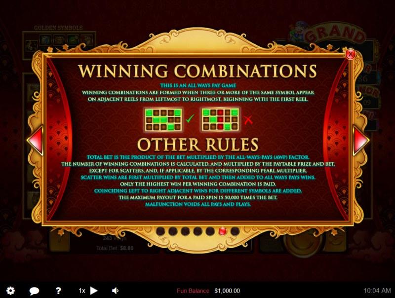 Plentiful Treasure :: General Game Rules