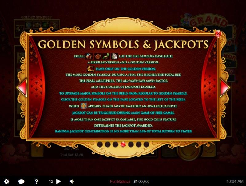Plentiful Treasure :: Golden Symbols