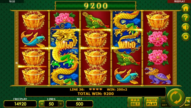 Plenty Dragons :: Multiple winning paylines