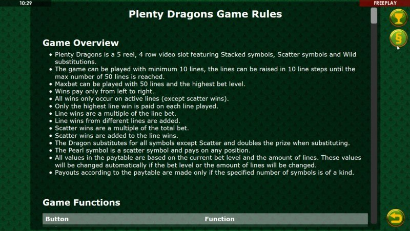 Plenty Dragons :: General Game Rules