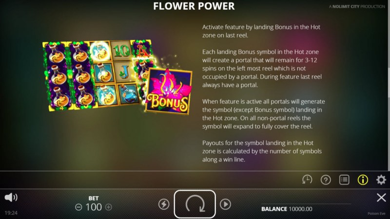 Poison Eve :: Flower Power Bonus Rules