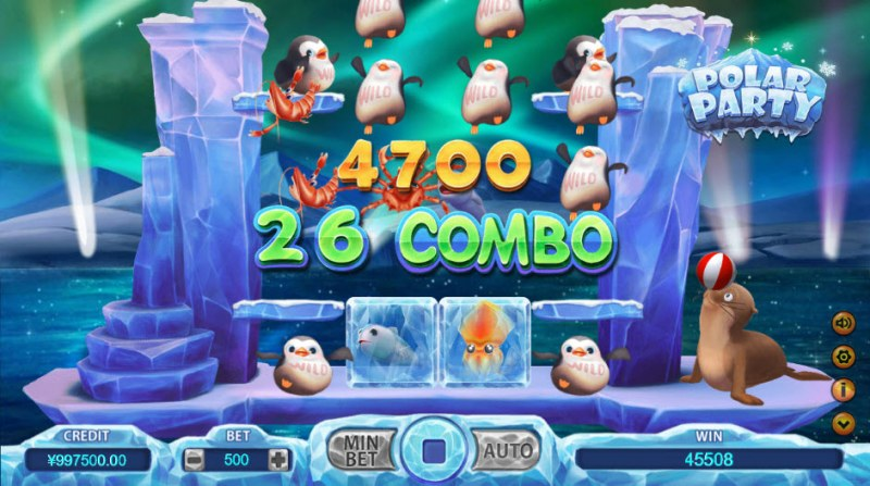 Polar Party :: 26 combo win