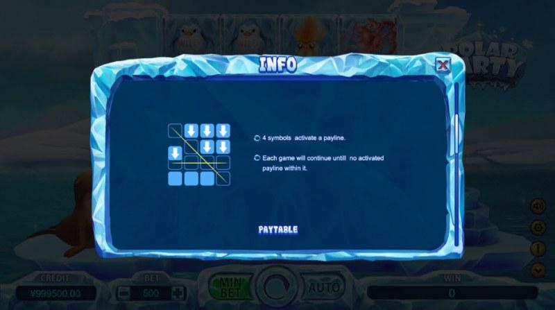 Polar Party :: 4 symbols activate a payline