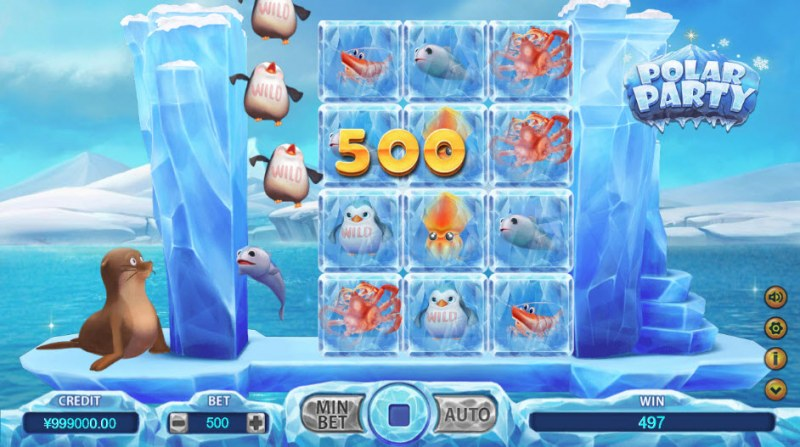 Polar Party :: A four of a kind Win