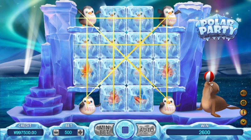 Polar Party :: Multiple winning combinations leads to a big win