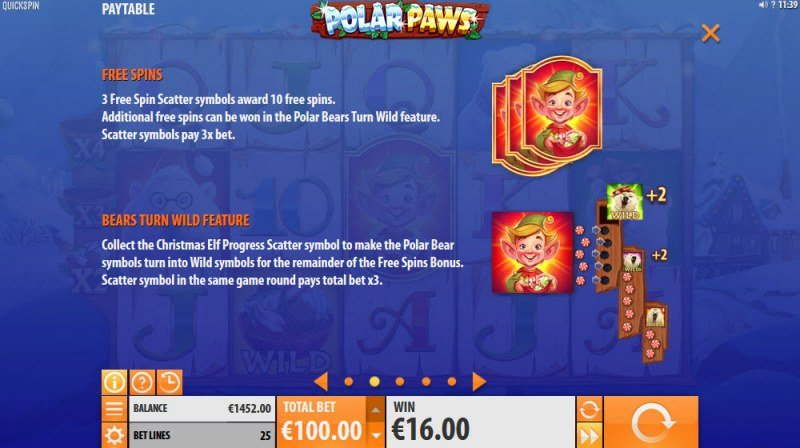 Polar Paws :: Scatter Symbol Rules