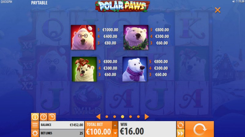 Polar Paws :: Paytable - High Value Symbols