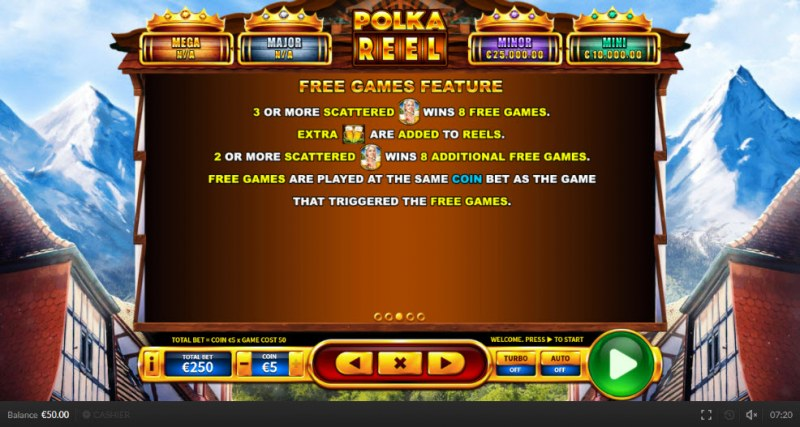Polka Reel :: Free Spins Rules