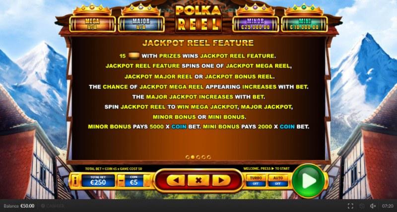 Polka Reel :: Jackpot Reel Feature