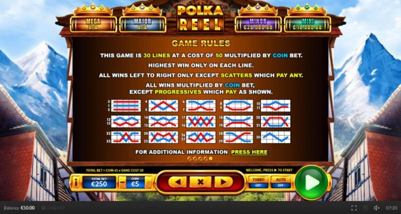Polka Reel :: General Game Rules