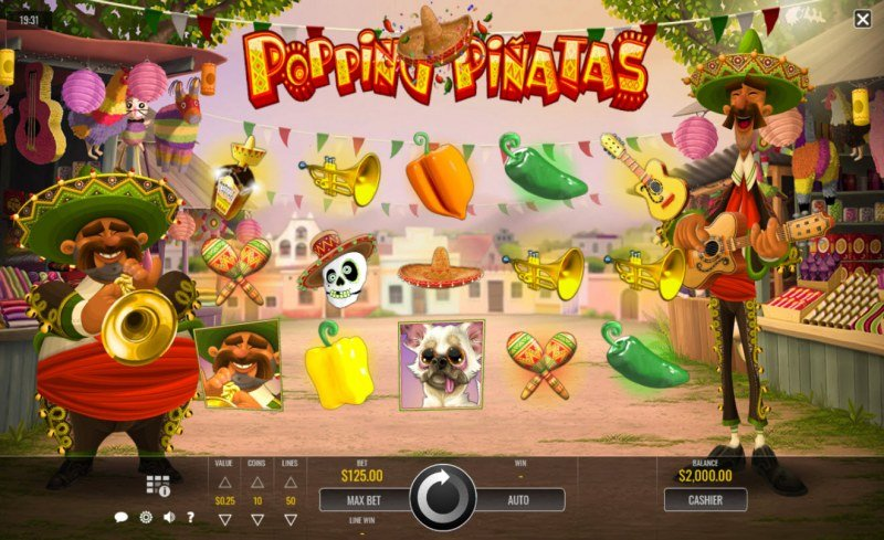 Play slots at Black Lotus: Black Lotus featuring the Video Slots Popping Pinatas with a maximum payout of $31,250