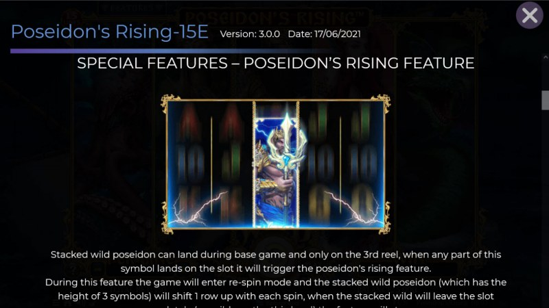 Poseidon's Rising 15 Lines :: Free Spin Feature Rules