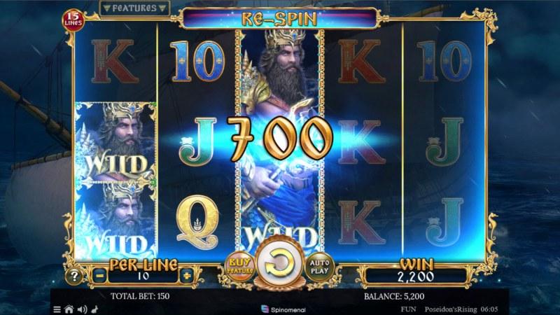 Poseidon's Rising 15 Lines :: Multiple winning paylines