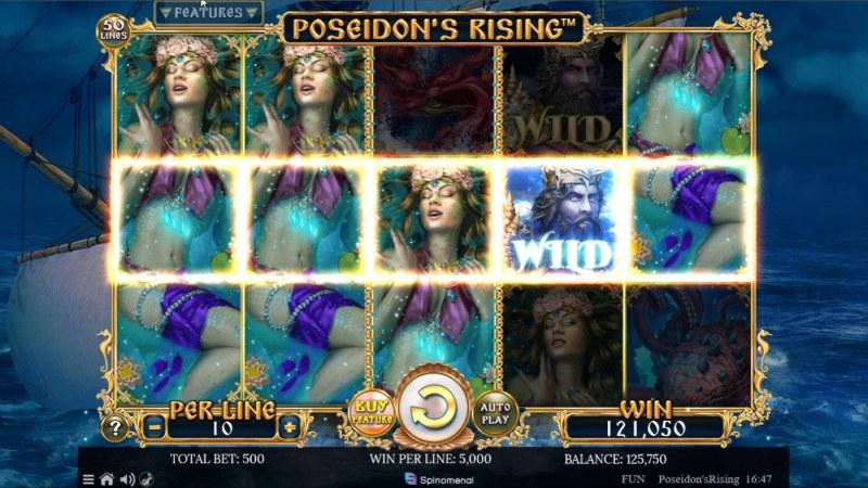 Poseidon's Rising :: Multiple winning paylines