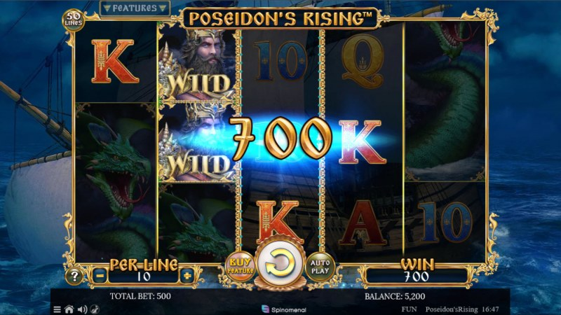 Poseidon's Rising :: A four of a kind win