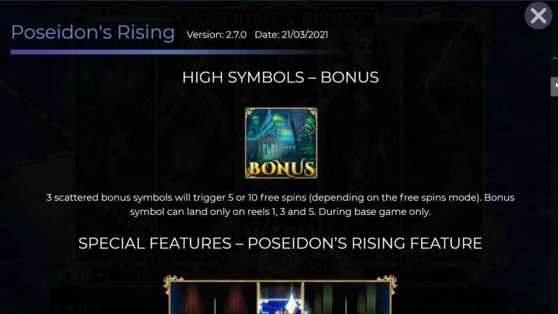 Poseidon's Rising :: Scatter Symbol Rules