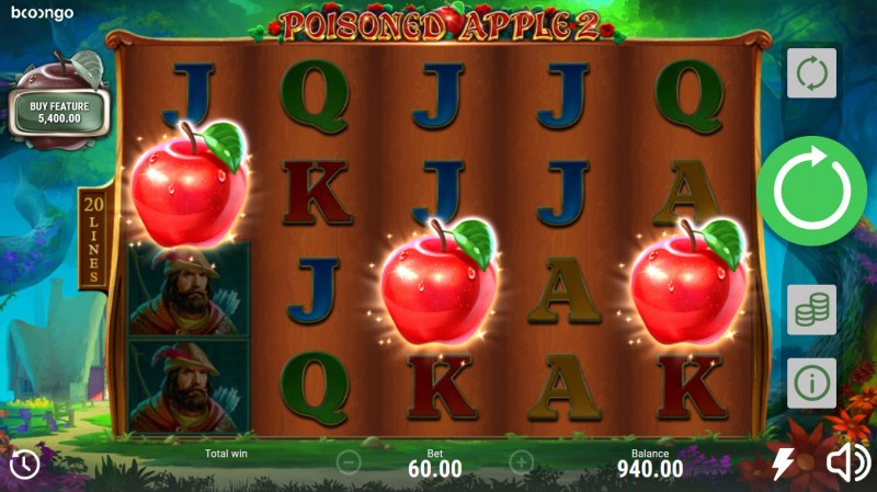 Posioned Apple 2 :: Scatter symbols triggers the free spins bonus feature