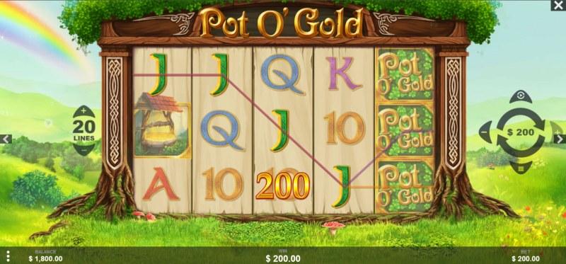 Pot O' Gold :: A four of a kind win