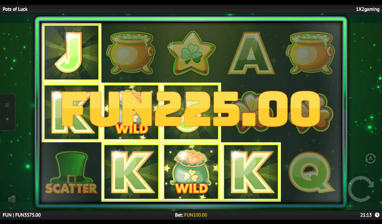 Play slots at Mongoose Casino: Mongoose Casino featuring the Video Slots Pots of Luck with a maximum payout of $16,000