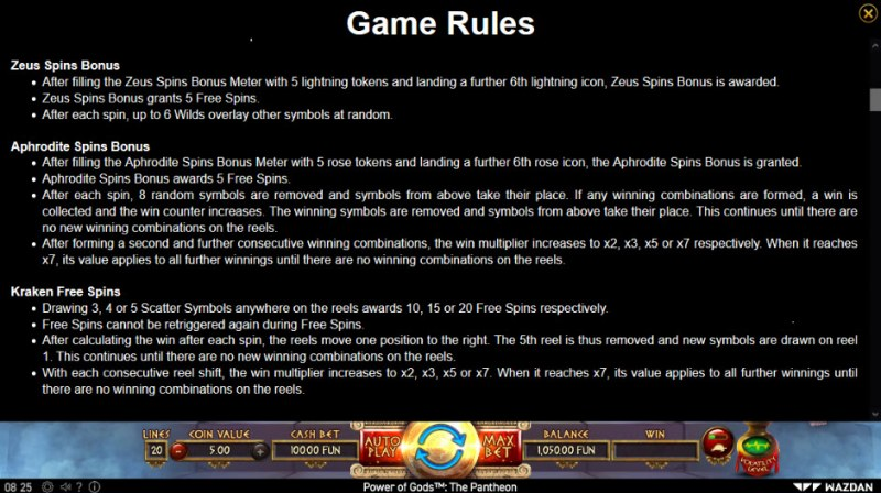 Power of Gods Pantheon :: Feature Rules