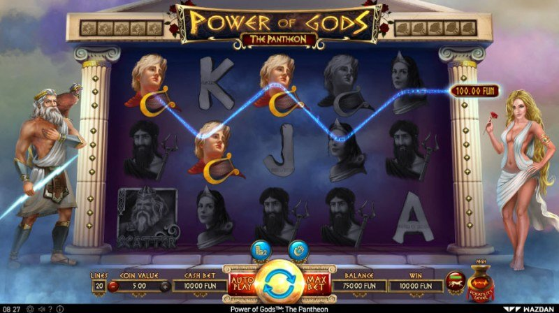 Power of Gods Pantheon :: Three of a kind win