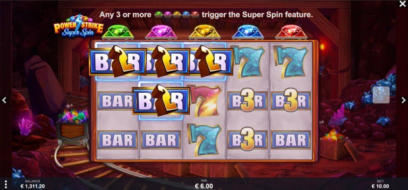 Power Strike Super Spins :: A three of a kind win