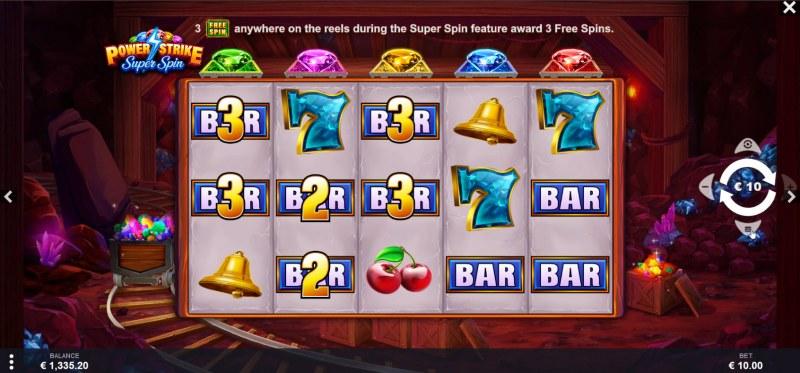 Power Strike Super Spins :: Main Game Board