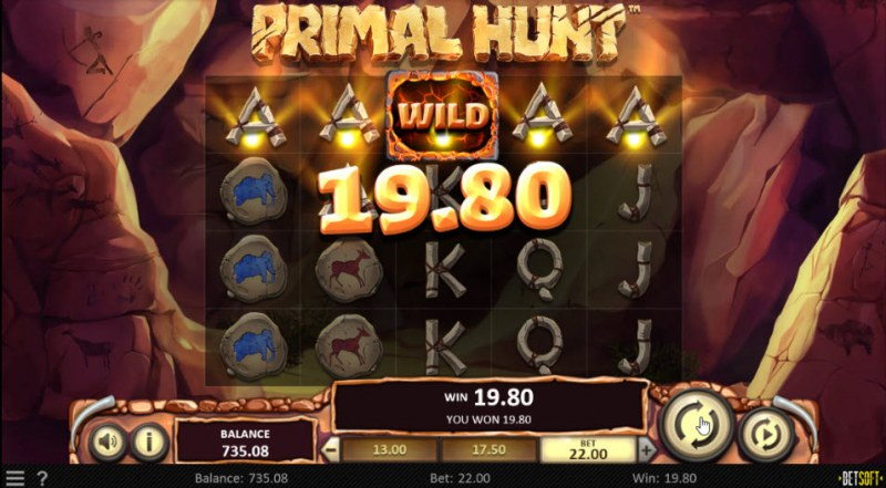 Primal Hunt :: A five of a kind win