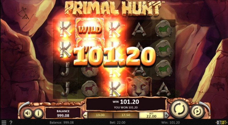 Primal Hunt :: Multiple winning paylines