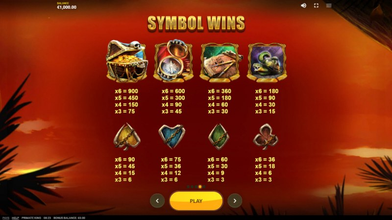 Primate King :: Symbol Wins