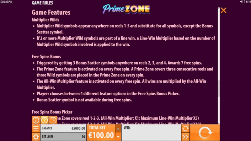 Prime Zone :: General Game Rules