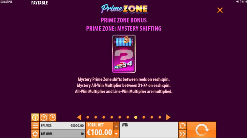 Prime Zone :: Free Spins Rules