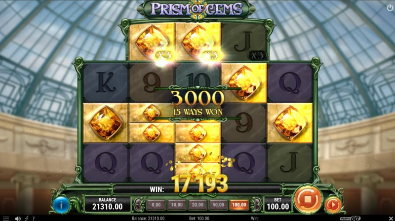 Prism of Gems :: Multiple winning combinations lead to a big win