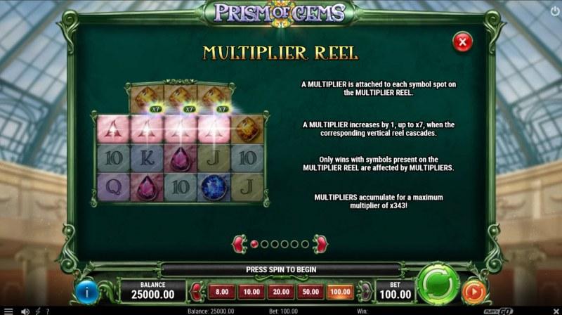 Prism of Gems :: Multiplier Reel