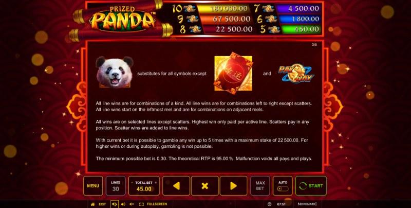 Prized Panda :: Wild Symbols Rules