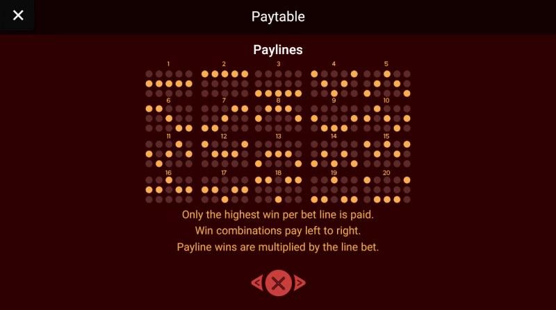 Prosperity Gods :: Paylines 1-20