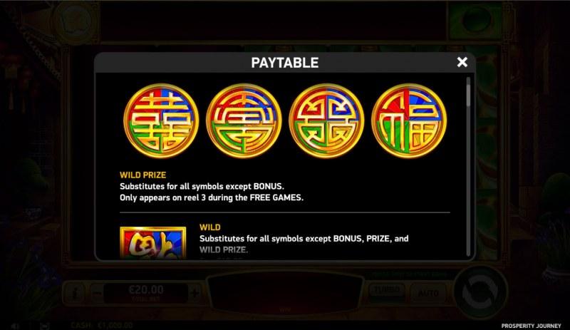 Prosperity Journey :: Prize Symbols