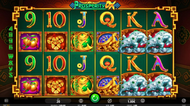 Play slots at Zet Casino: Zet Casino featuring the Video Slots Prosperity Ox with a maximum payout of $96,640