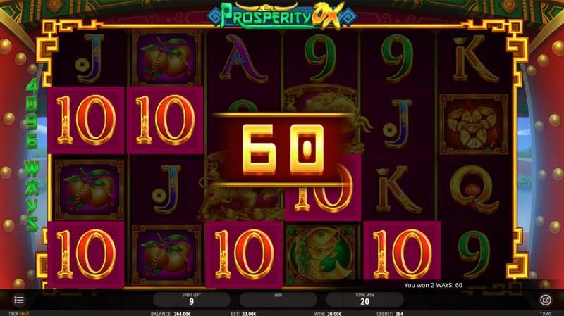 Prosperity Ox :: Multiple winning paylines