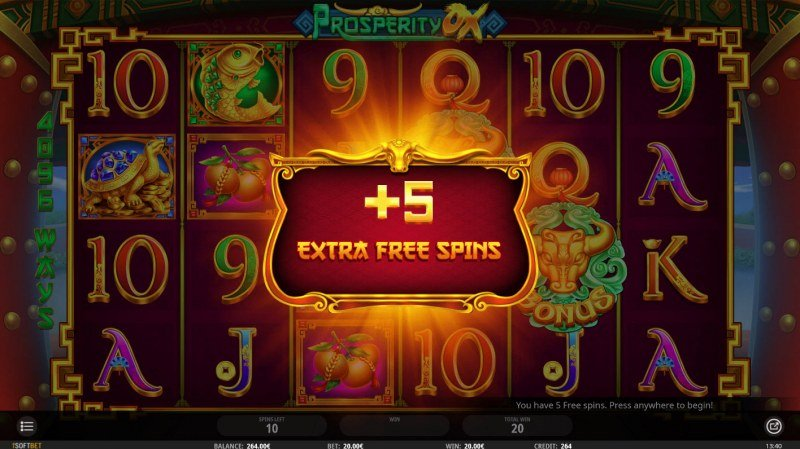 Prosperity Ox :: 5 additional spins awarded