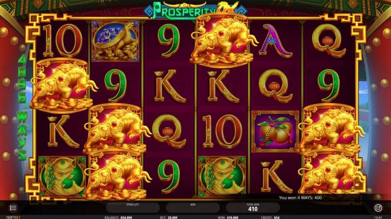 Prosperity Ox :: Golden ox symbols triggers big win