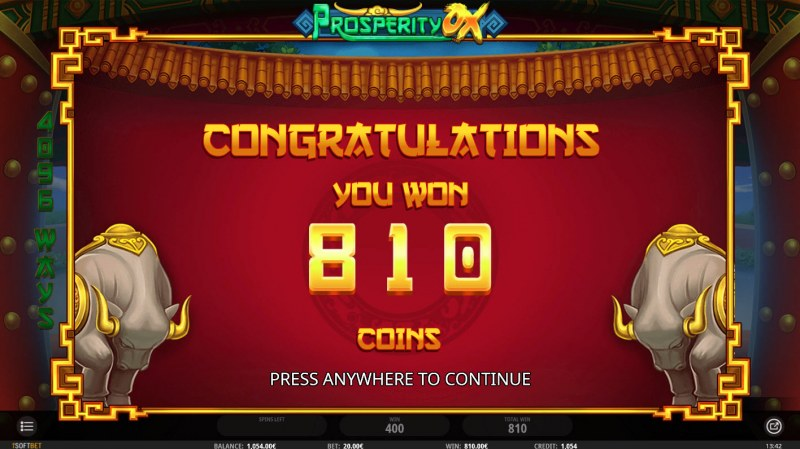 Prosperity Ox :: Total free spins payout